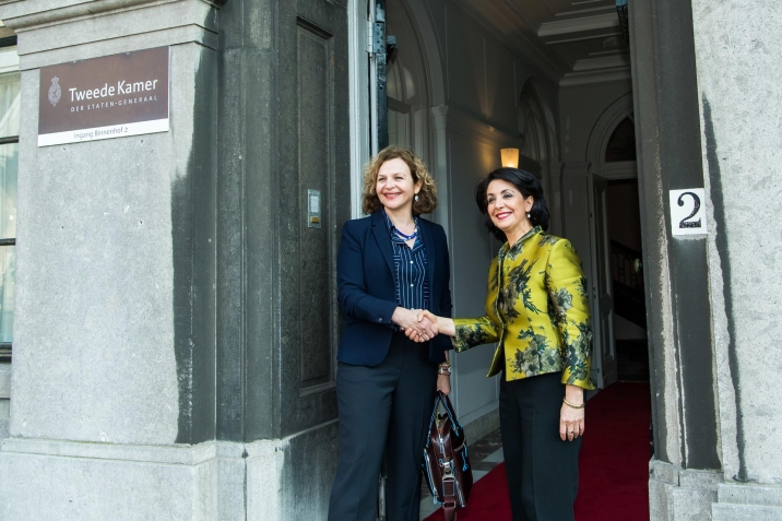 The President of the House, ms. Arib and the informateur, ms. Schippers