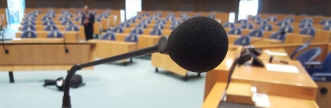Microphone in the plenary hall