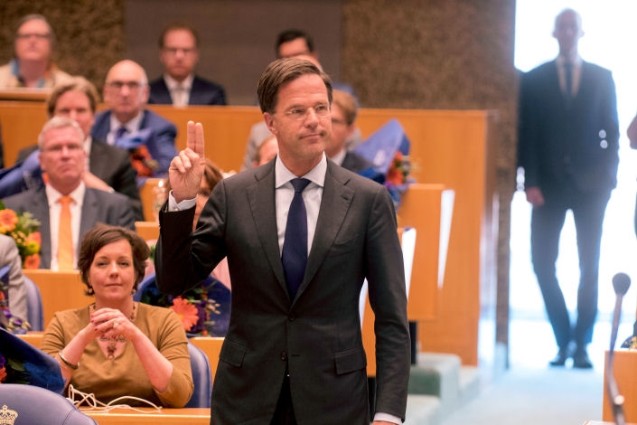 Also prime minister Mark Rutte was sworn in as MP. The old Cabinet has resigned, and the formation of a new Cabinet is under negotiation.