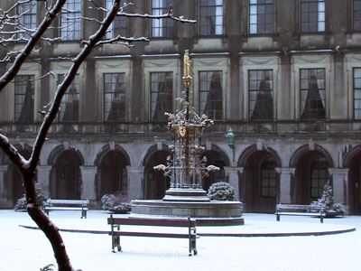 Photo from the Binnenhof in winter.