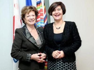 The Speaker and Neelie Kroes