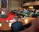 Photo of the Plenary Hall of the Senate.