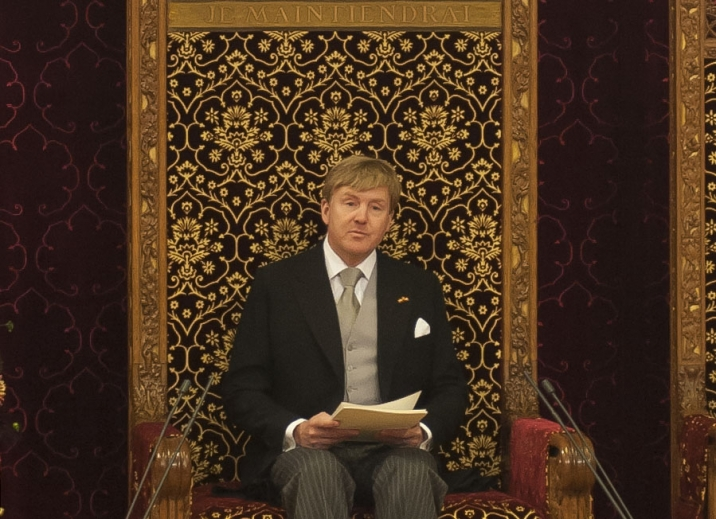 Photo of the King delivering the King's Speech.