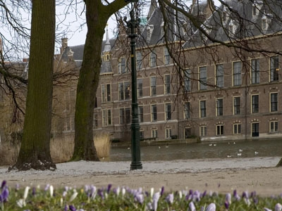Photo from the Binnenhof in spring.
