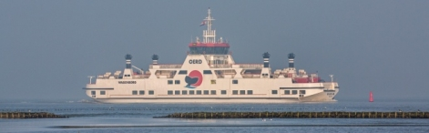 One of the ferryboats plying daily between Holwerd and the isle of Ameland.